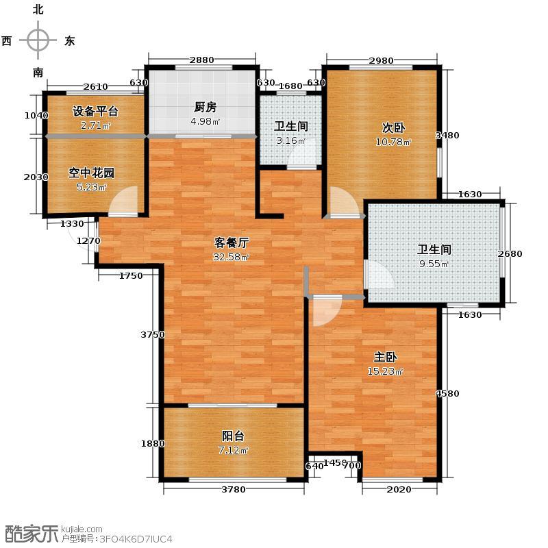 海亮九玺3室2厅1卫0厨105.00㎡户型图