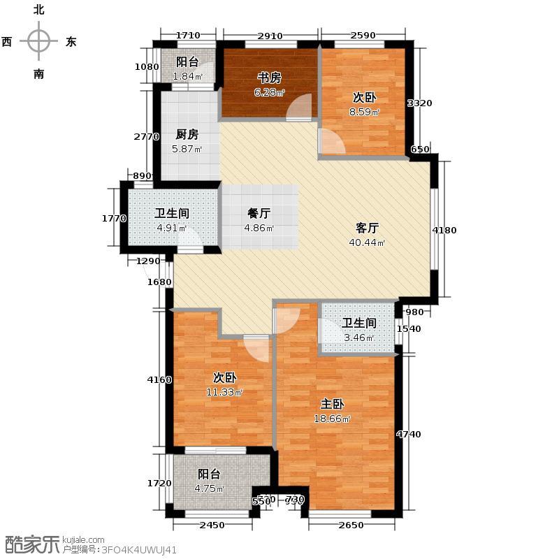 青山鹤岭4室1厅2卫0厨120.00㎡户型图