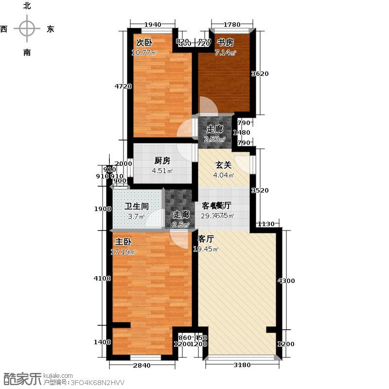 中国户型大全 北京 中建国际城 3室2厅1卫0厨 100...