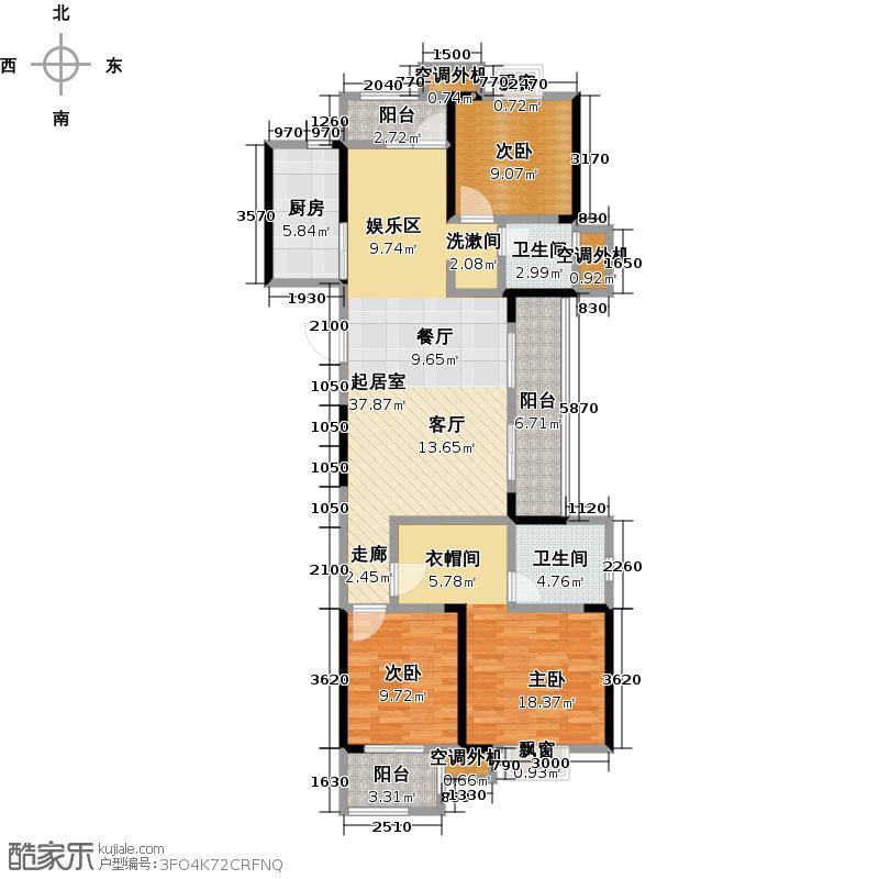 旭辉御府3室0厅2卫1厨149.00㎡户型图