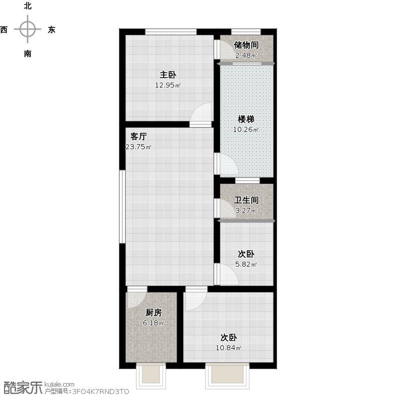 三室一厅户型图装修总尺寸