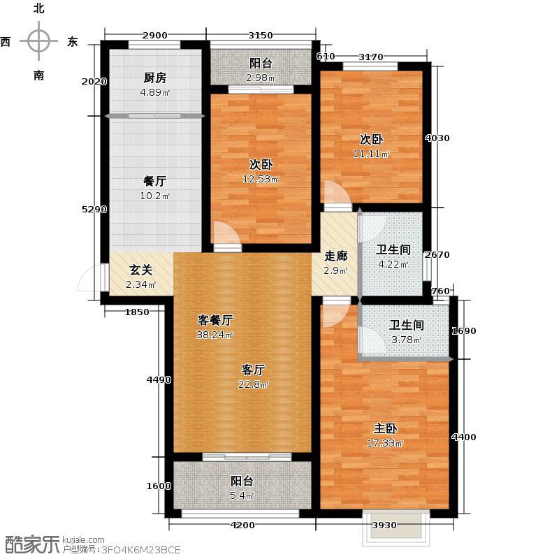 远洋新天地3室1厅2卫1厨119.00专业图室内设计有专门的开设户型吗图片