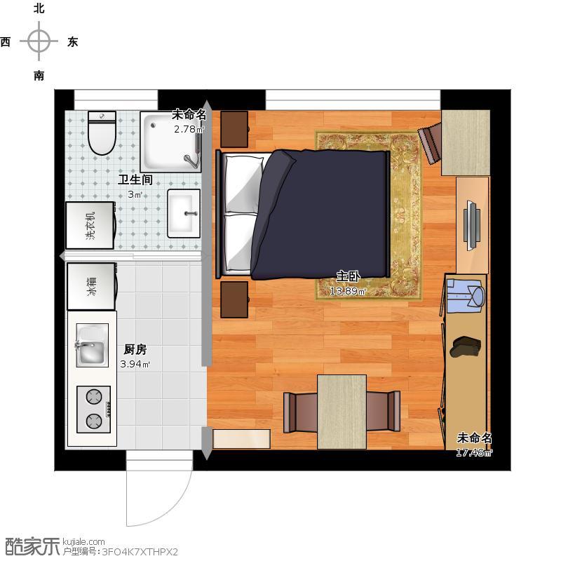 公寓楼20平a2户型一室一厨一卫