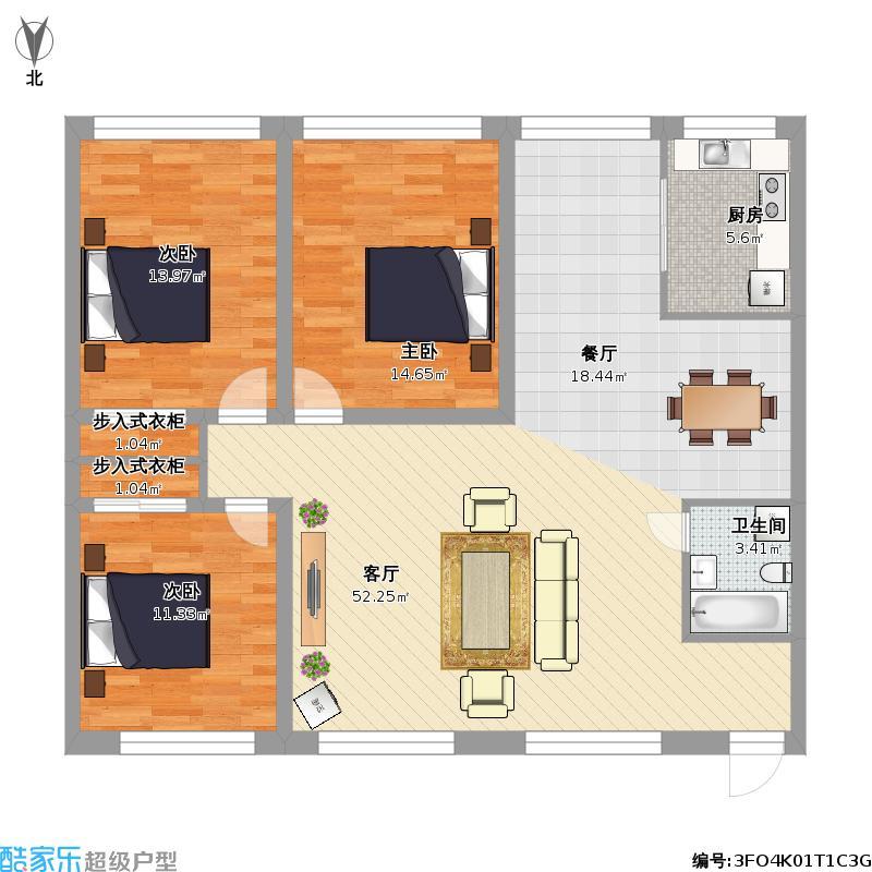 复制的方案_自建三室两厅