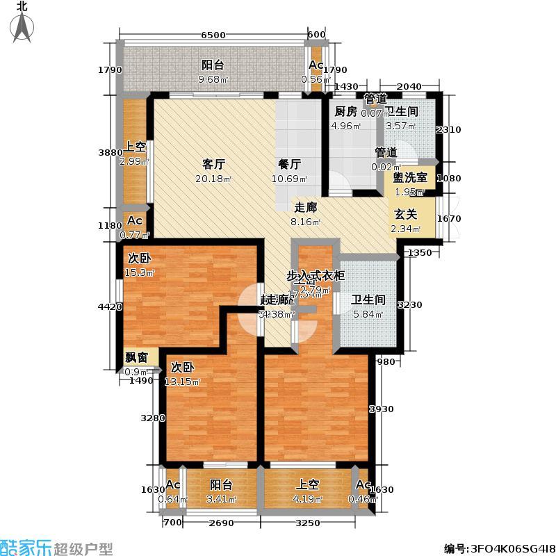 风景蝶院3室0厅2卫1厨146.00㎡户型图