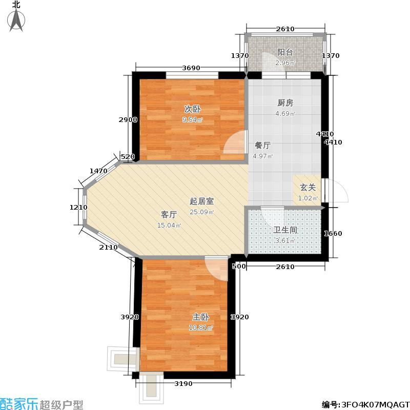 华远新家园2室0厅1卫0厨72.00㎡户型图