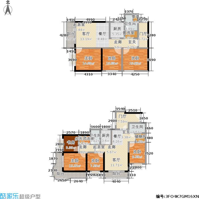 华盛国际7室0厅3卫2厨270.00�O户型图