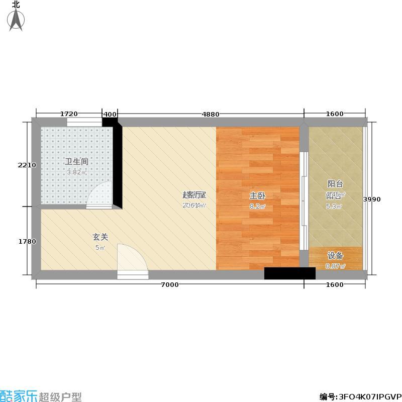 欧鹏k城阁楼29.86㎡户型图