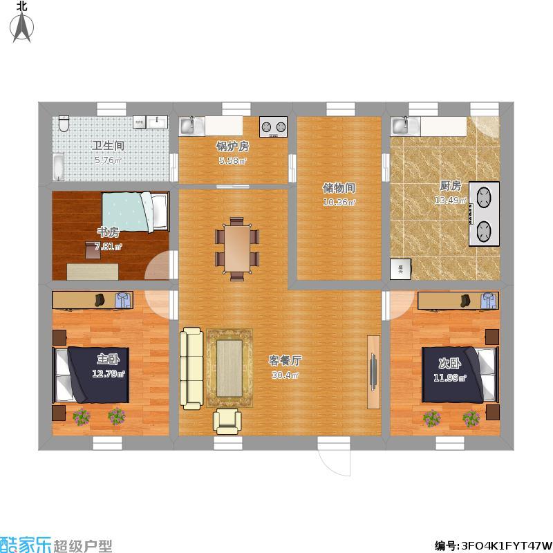 宽6米长15米平房设计图