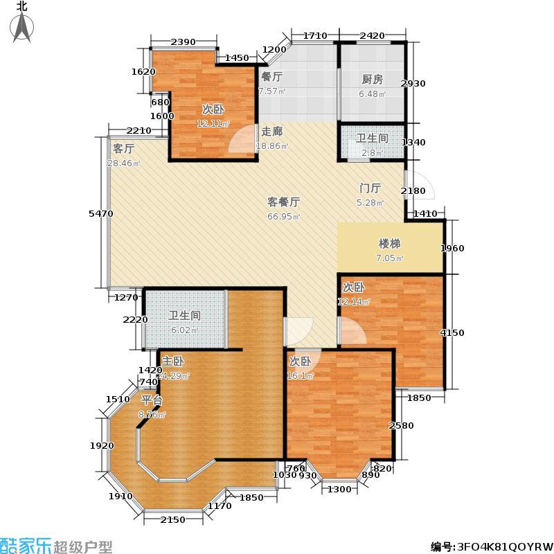 春天花园4室1厅2卫1厨155.67㎡户型图