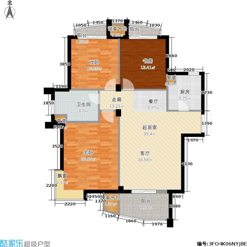 南通绿城玉兰公寓3室0厅1卫1厨150.00㎡户型图