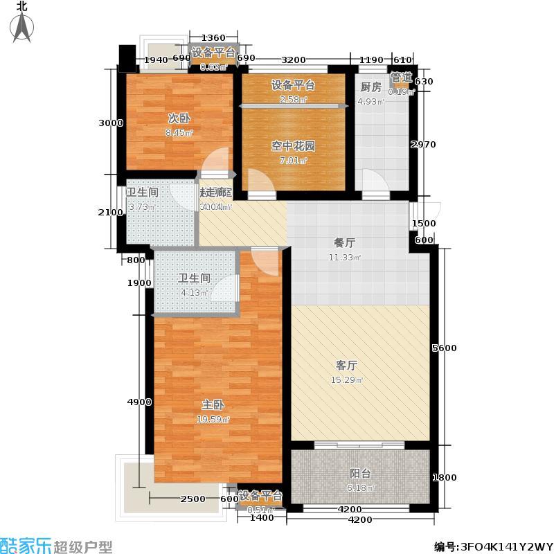 海亮九玺2室0厅2卫1厨113.00㎡户型图