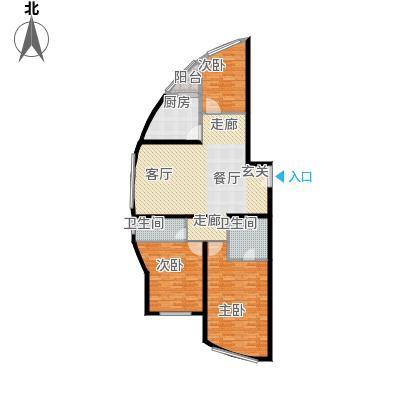 00㎡房型: 三房; 面积段: 110 -160 平方米; 户型