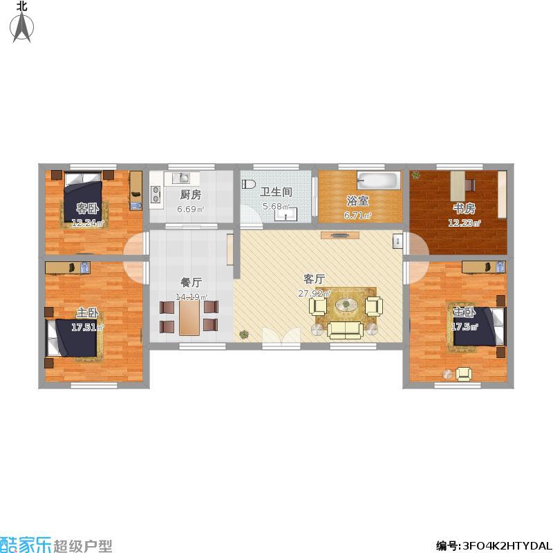 农村自建4室0厅1卫1厨170.00㎡户型图户型图大全,装修