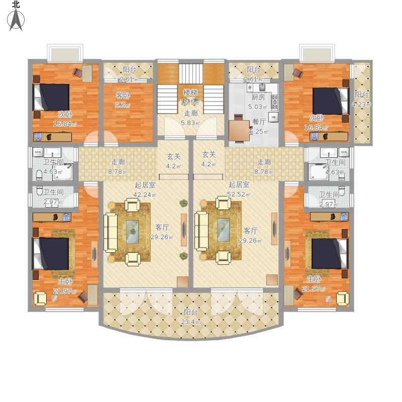 自建房3层平面设计图