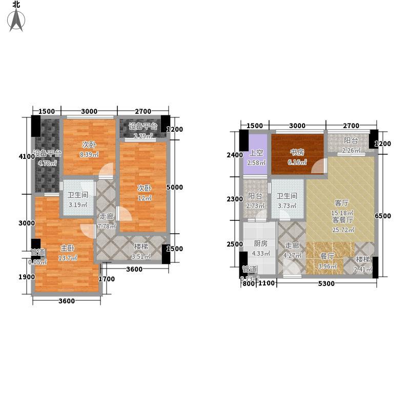 重庆兰花丽景户型�_兰花丽景添丁4室1厅2卫1厨146.00㎡户型图