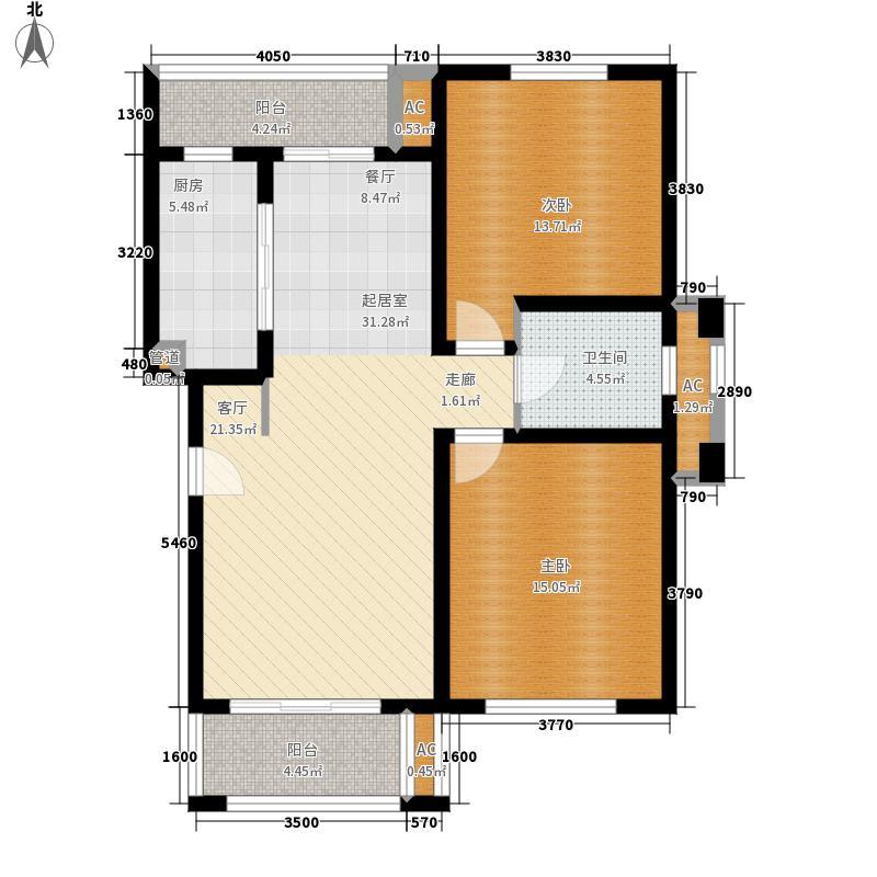 绿地崴廉公寓2室0厅1卫1厨90.00㎡户型图