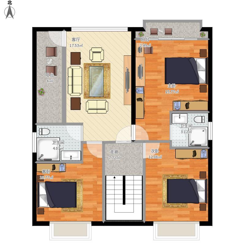 90平長方形2樓三室一廳2衛-副本圖片