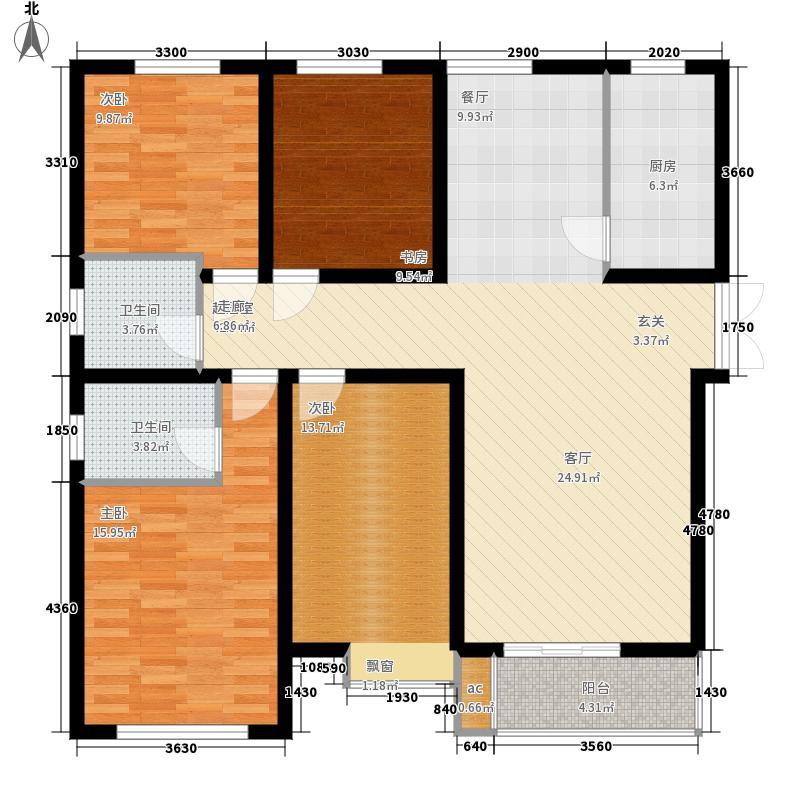 曲江风景线4室0厅2卫1厨151.00㎡户型图