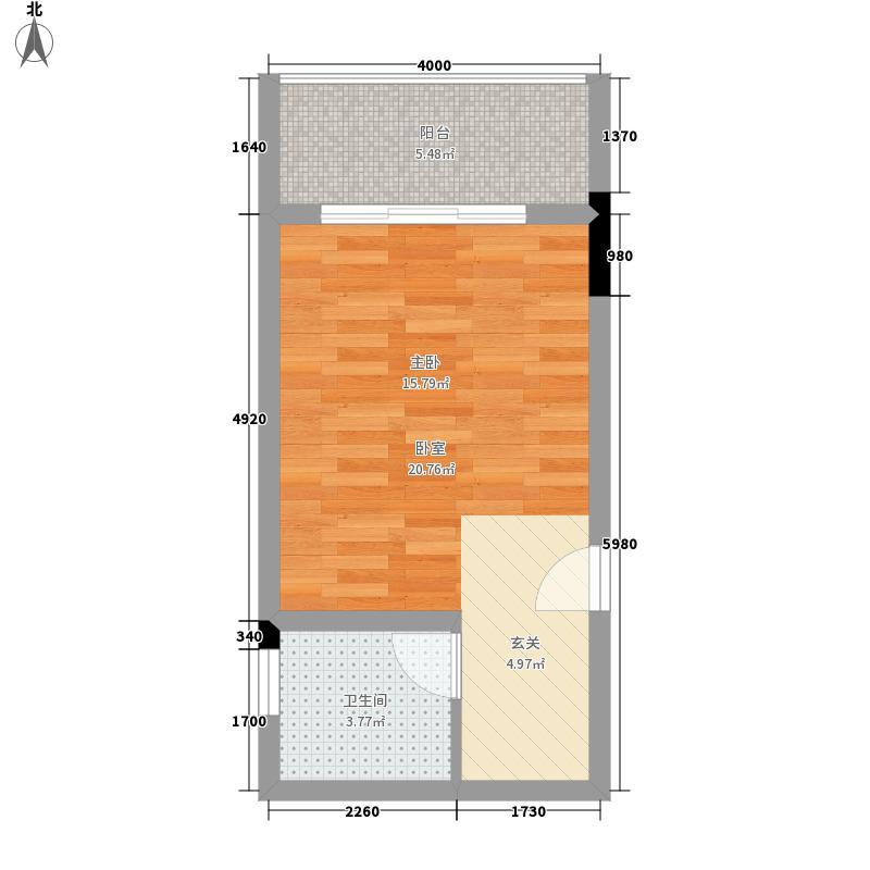 欧鹏k城阁楼43.00㎡户型图
