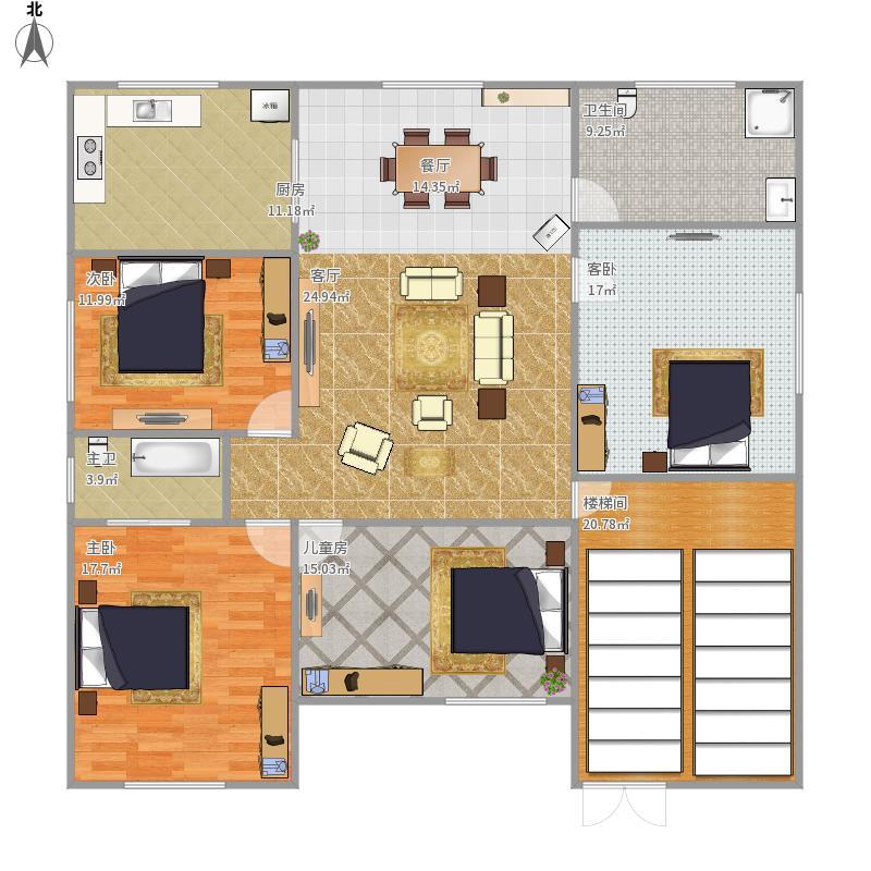 李志强农村房屋设计图2-3