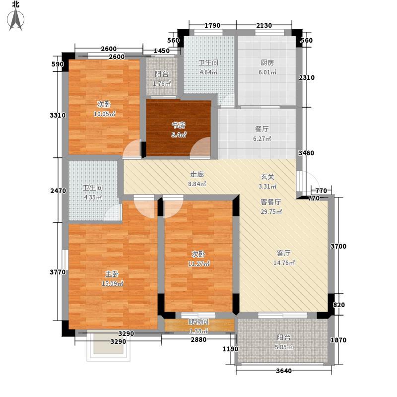 紫松教师户型4室1厅2卫1厨137.00守则图教案中小学生公寓图片