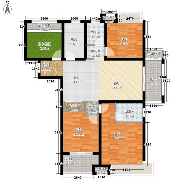 海亮御府3室1厅2卫1厨148.00㎡户型图