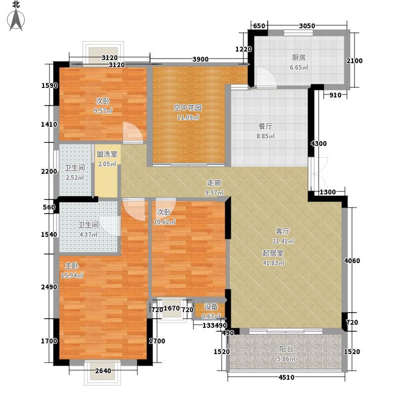 鑫远逸园3室0厅2卫1厨135.00㎡户型图