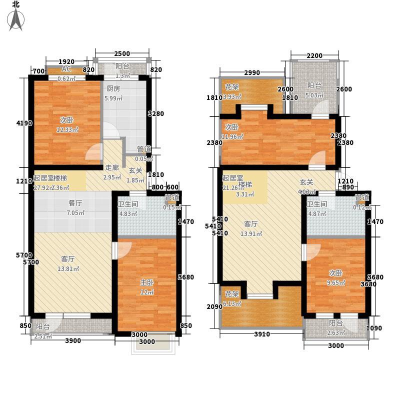 金地盛世4室0厅2卫1厨140.00㎡户型图