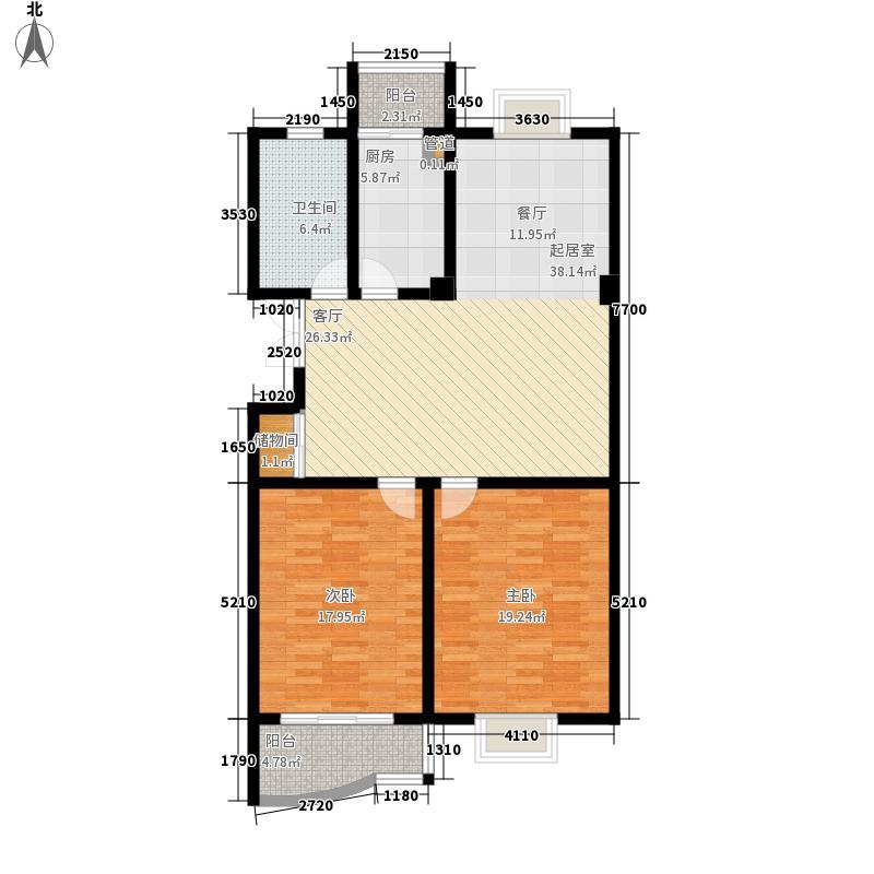 如皋世纪光华苑2室0厅1卫1厨137.00㎡户型图