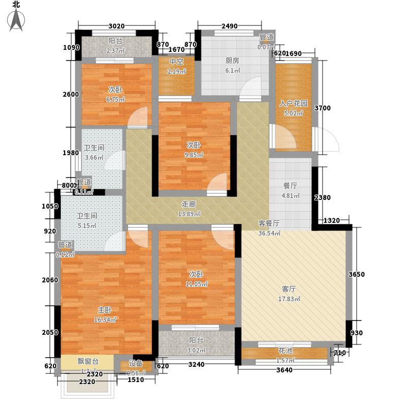 中国户型大全 南通 世茂公元 4室1厅2卫1厨 130㎡及以上  户型图报错