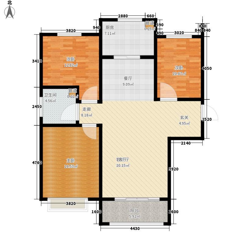 嘉诚东郡3室1厅1卫1厨140.00㎡户型图