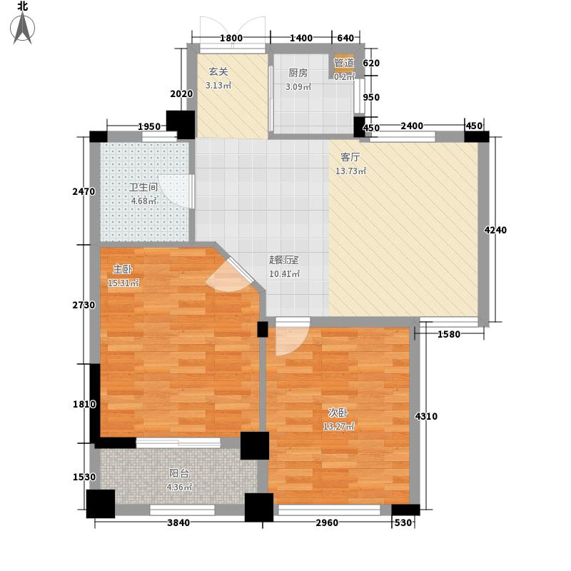 中国户型大全 嘉兴 御溪半岛 2室0厅1卫1厨 50-80㎡  户型图报错 面积