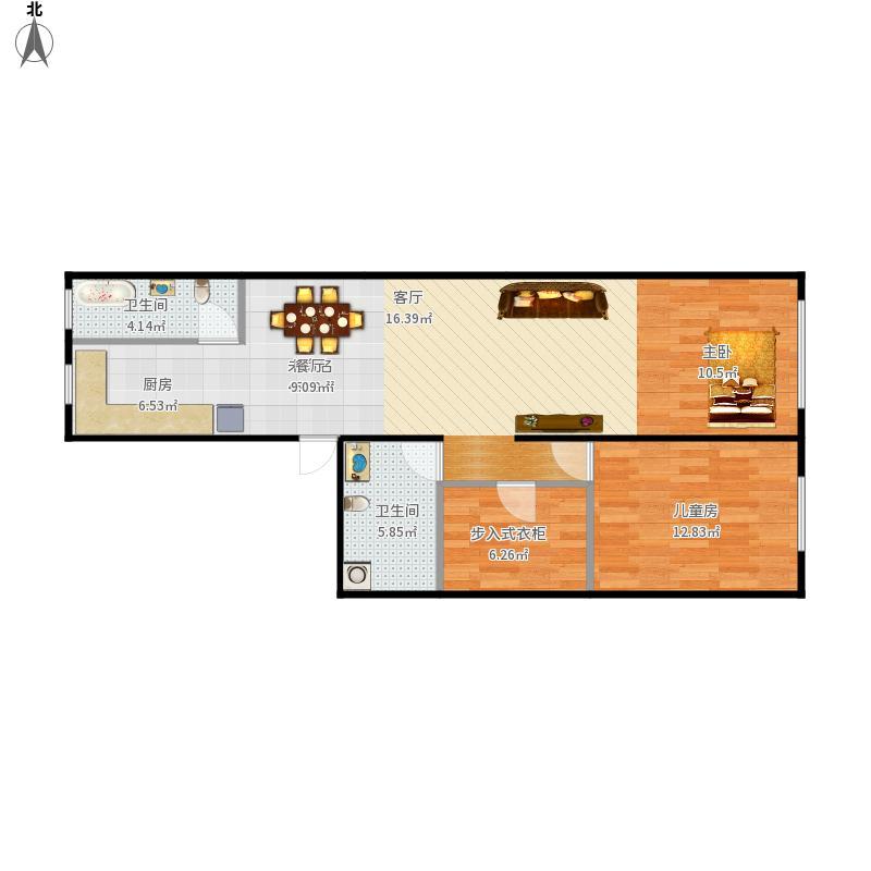 我的设计直筒房60平方-副本-副本