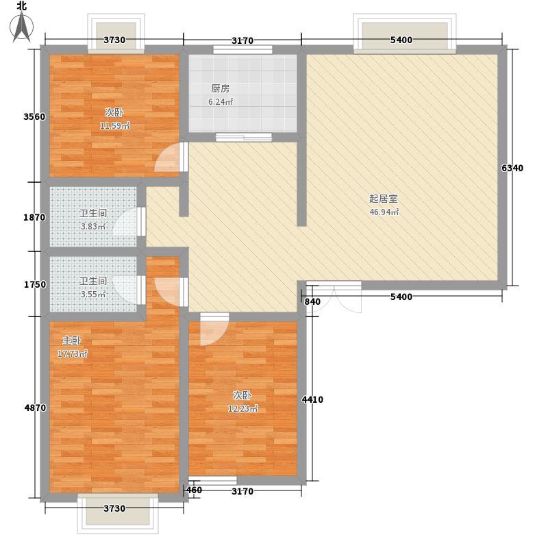 滨河花园3室0厅2卫1厨145.00㎡户型图