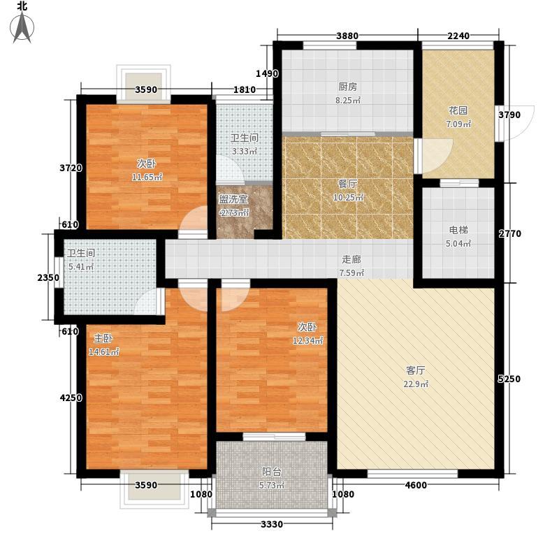 清丰怡园风景3室0厅2卫1厨166.00㎡户型图