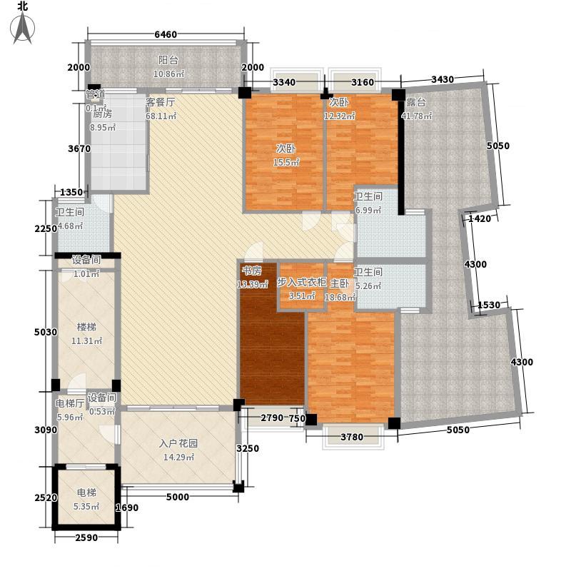 中国户型大全 汕头 金叶岛 4室1厅3卫1厨 130㎡及以上  户型图报错 面