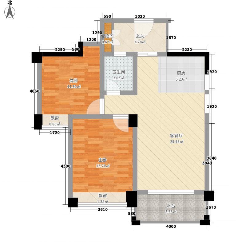 中国户型大全 南宁 维也纳森林 2室1厅1卫0厨 80-100㎡  户型图报错
