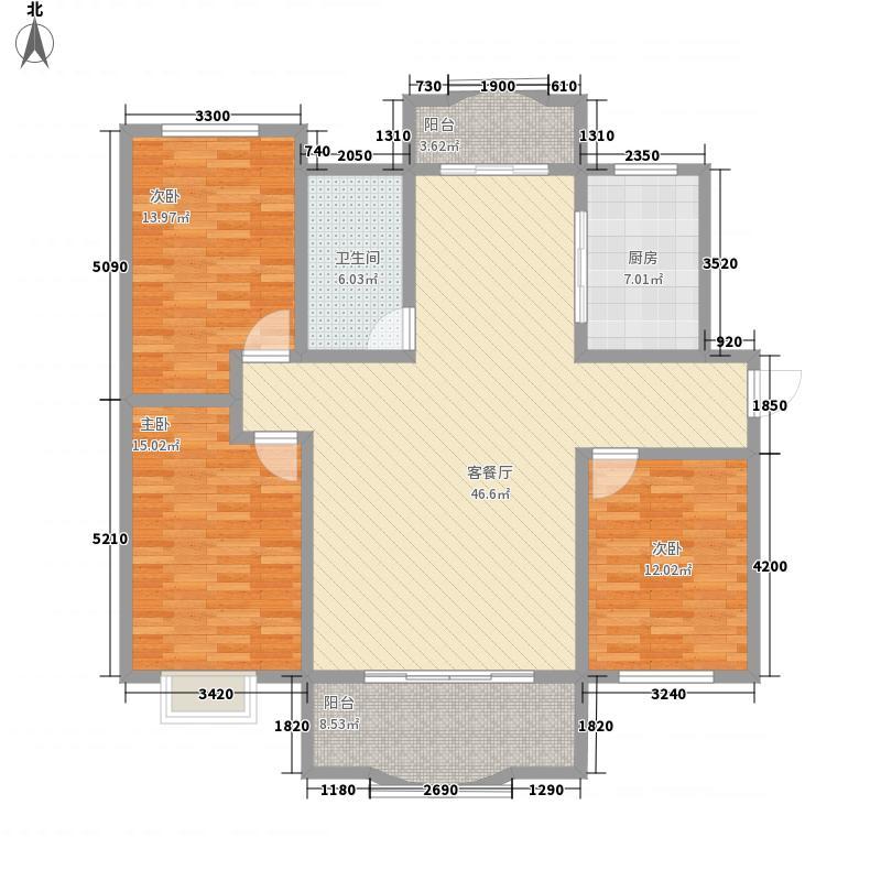 如皋阳光花苑3室1厅1卫1厨159.00㎡户型图