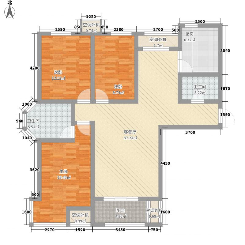 金屋秦皇半岛一区3室1厅2卫1厨144.00�O户型图