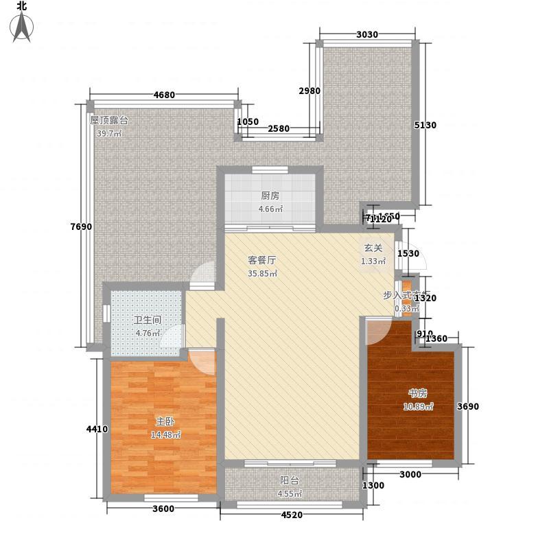 富立秦皇半岛2室1厅1卫1厨115.21㎡户型图