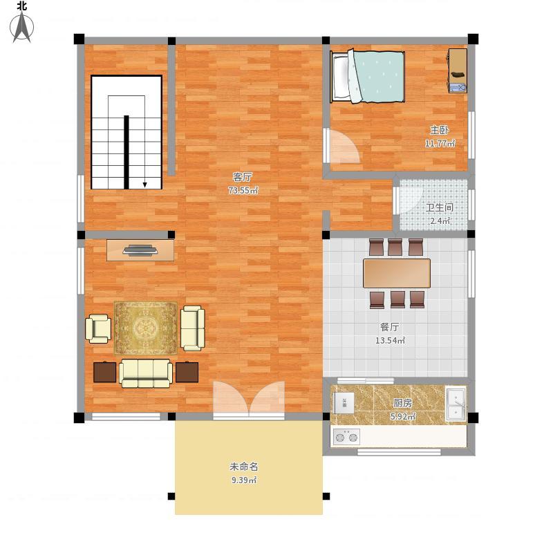别墅复式1层平面图 - 副本图片