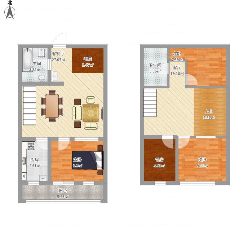 宁波80墅4室2厅2卫1厨138.00㎡户型图