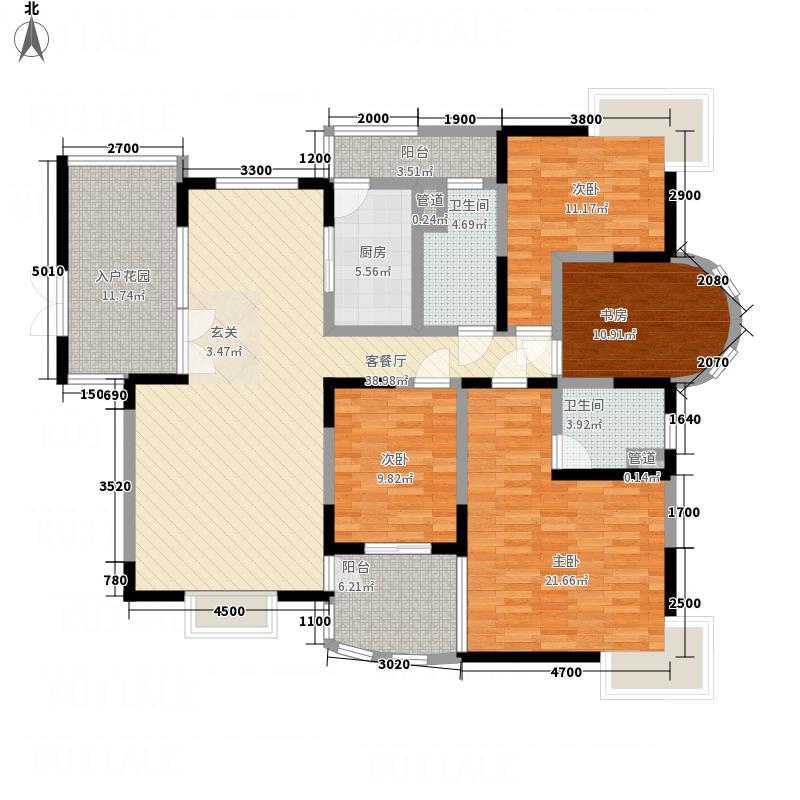 仙鹤山庄4室1厅2卫1厨184.00㎡户型图