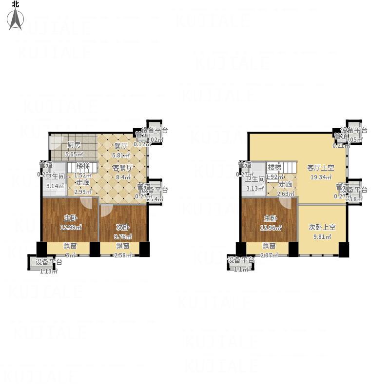 远洋新天地3室0厅2卫0厨149.00平面图手绘户型设计图ck图片