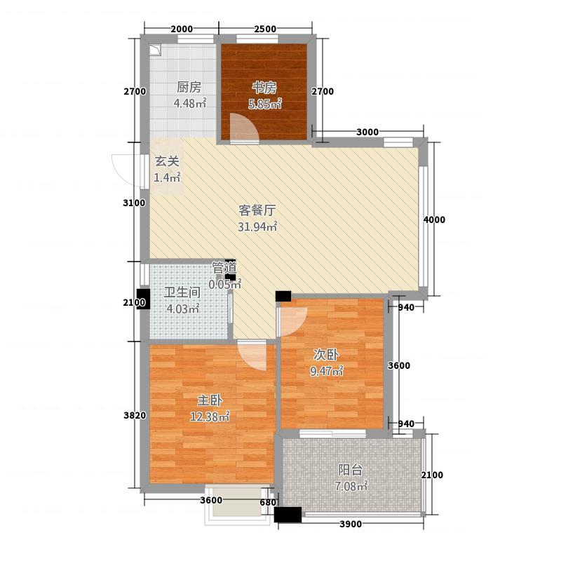 青山鹤岭3室1厅1卫0厨328.00㎡户型图