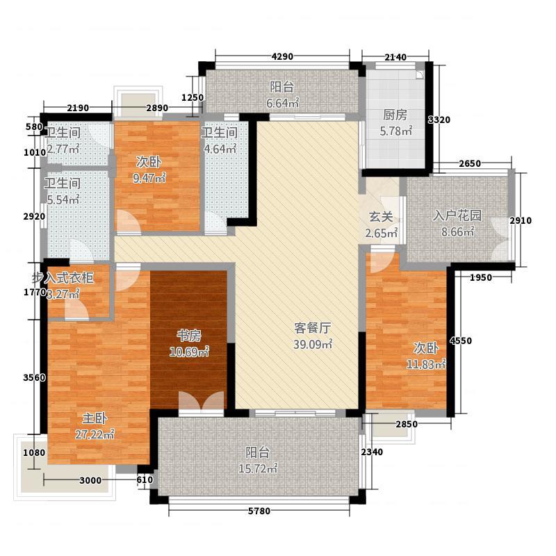 均安尚苑_顺德均安尚苑3室1厅3卫1厨21216.00㎡户型图