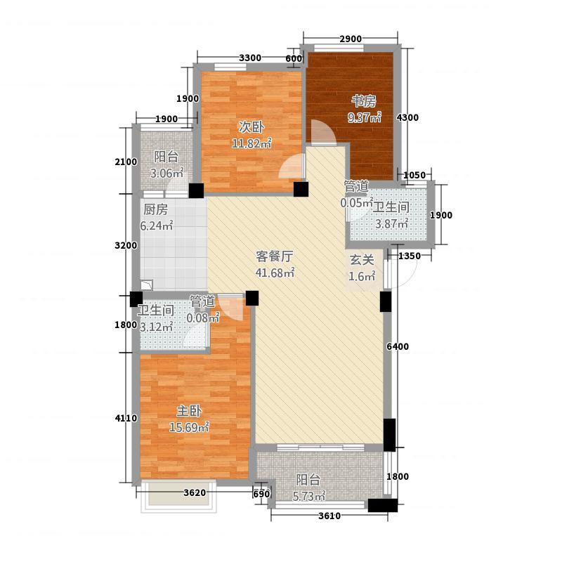 青山鹤岭3室1厅2卫0厨32115.00㎡户型图