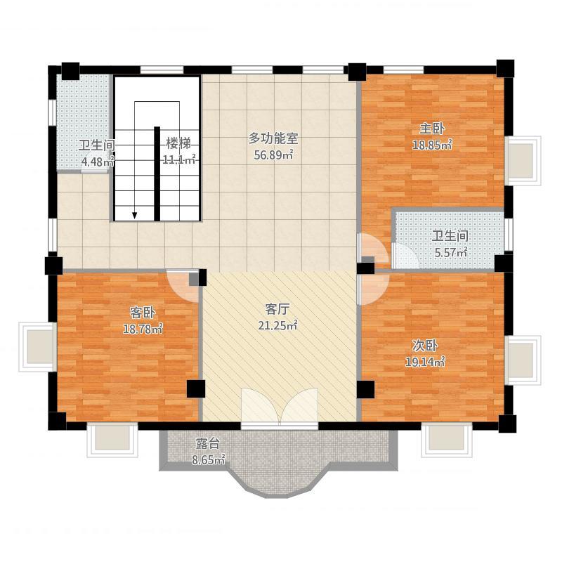 我的设计-农村自建房屋三层(二层)图片