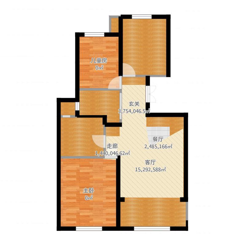 保亿风景御园2室0厅0卫0厨91.00㎡户型图